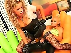 Hot blonde whore goes crazy