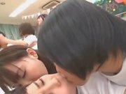 Japananese schoolgirl lesbian orgy!!! (Full vid)