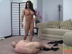 Angela Salvagno tells her slave Toughen up