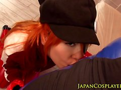 Ginger cosplay asian pussyfucked