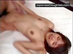 Cute japanese daughter hatefucked hard by daddy