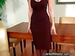 Sexy Blondine total Mütter wird Abtriebs