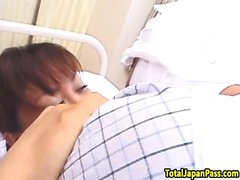 Japanese nurse riding her patients dick