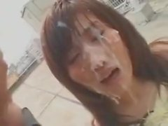 Rooftop Bukkake for Japanese Cunt