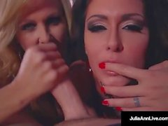 Double BJ & Cum mit Hot Mommy Julia Ann & Jessica Jaymes!