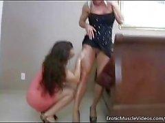 EroticMuscleVideos Ashlee Chambers and BrandiMae Fuck Hard