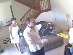 Da empregada doméstica eo A esposa Captured Tendo em lésbicas Sex on Câmera Escondida Câmera de