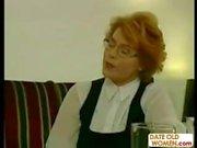 Redhead German grandmother fucking