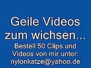 German Handjob in Nylons und High Heels Stiefeln