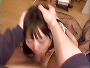 Adolescente de japoneses es darle algún POV bonita cabeza gargantas profundas
