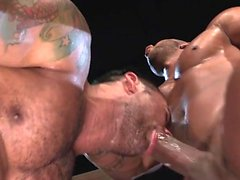 Muscular bear sexo anal con corrida facial