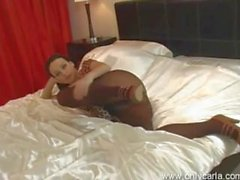 Carla Brown striptease 2