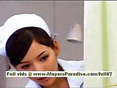 Riossa Naughty Aasialaiset poikanen saa hänen märkää pimppi licked