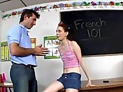 French teacher slams a horny student