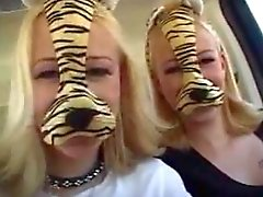 Blonde Strapon Twins Are Fucking A Lucky Guy