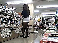 Japan Crossdresser Strumpbyxor Public Exhibitionism Upskirt