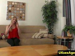 Euro casting babe cumsprayed by midget agent
