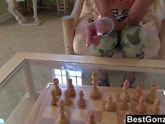 BestGonzo - Sexig svart gf i ett varmt band Schack
