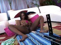 Skyler Nicole riding a pumping sex machine