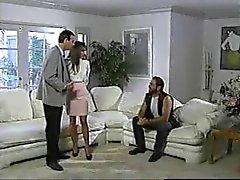 Britânicos de MILF Nici Stirling threesome marido relógios enquanto
