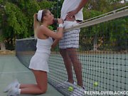 August Ames played tennis and boned hard
