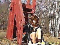 Flexibel Chickies tut ein Leck draußen