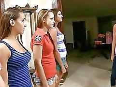 Lesbiennes strelen op cam