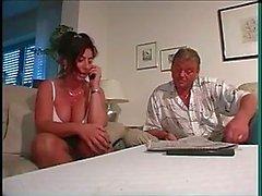 curvy german mom in high cut panty vs 2 cocks