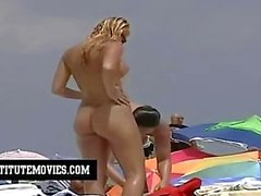 pervy voyeur filmed the babes at the beach relaxing