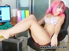 Candy Emo Girl Nina Terror Does Striptease