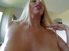 Heavy chested Karen shows her Big boobs