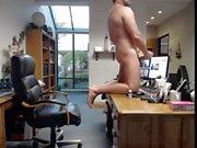 papa exposé, se masturber au travail