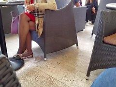 Strumpfhosen Oma Beine