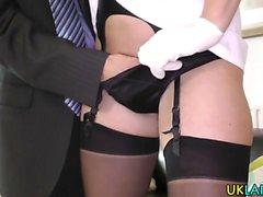 Milf enfermeira em meias