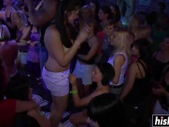 Group of girls gets naked at the party