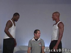 Latino amateur guy gets assfucked by black dudes