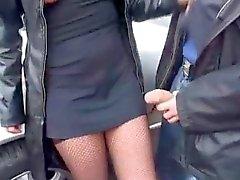 Betrunkene Frau wird gefickt - Utomhus