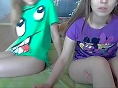 two white amateur teens stripping for the camera