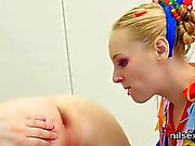 Kinky sweetie is brought in anus madhouse for painful treatm