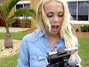 ExxxtraSmall Cute Blonde Caught Spying