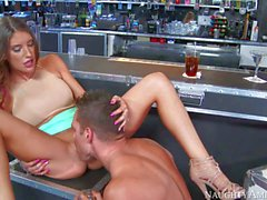 August Ames and Johnny Castle fucking at the bar