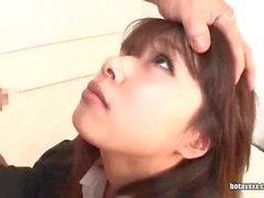 Japanese sucks cock wird gefickt und