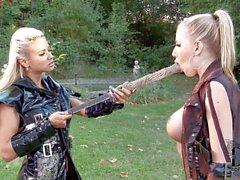 Lesbiana samurai a Ashley Bvlgari Danielle a Maye