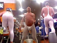At the gym in Tendenze spandex Pt 2