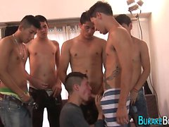 Gay twink blowbangs pollas