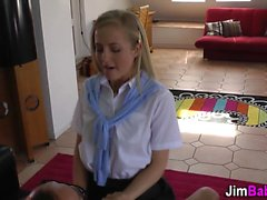 Uniformed teen facial