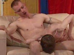 Circumcised Stud Spitroasted In Threesome