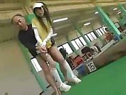 Golf instructor wants to give lessons and get some cock play