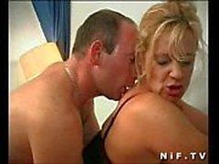 maturi French sempre ama Fare sesso anale e di eiaculazione facciale
