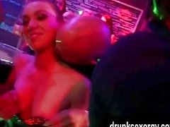 Horny pornstars gets fucked in a club